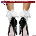 Lady Pants Ruffle Frilly Ankle Stocks Anklet Party Supply