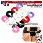 Furry Fluffy Metal Handcuffs up Sex Ring Ankle Cuffs Hand Restraint Toy (B6049)