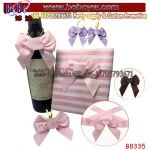 Mini Wine Bottle Bow Tie for Gift Packing Wedding Decoration Birthday Party Supply (B8335)
