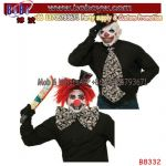 Evil Clown Jumbo Tie Accessory Fancy Dress Halloween Bow Party Supply Party Accessory (B8332)